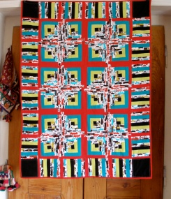 twin quilt log cabin