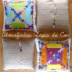 almofadas lapis de cor