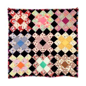 granny squares wall quilt