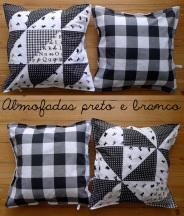 almofadas preto e branco