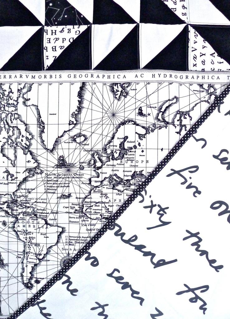 quilt mapa-mundo back