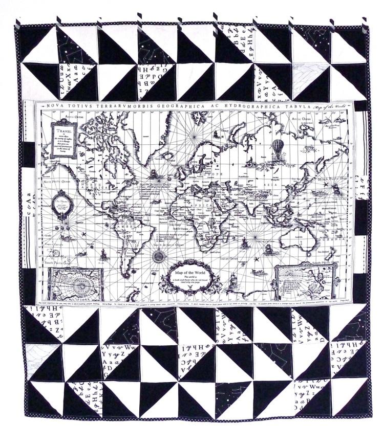 quilt mapa-mundo