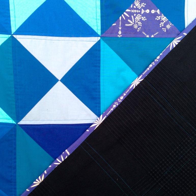 famous blue quilt