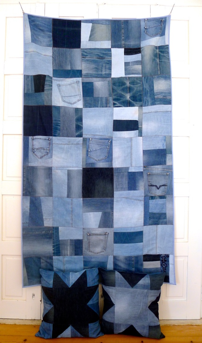 (reused) denim quilt