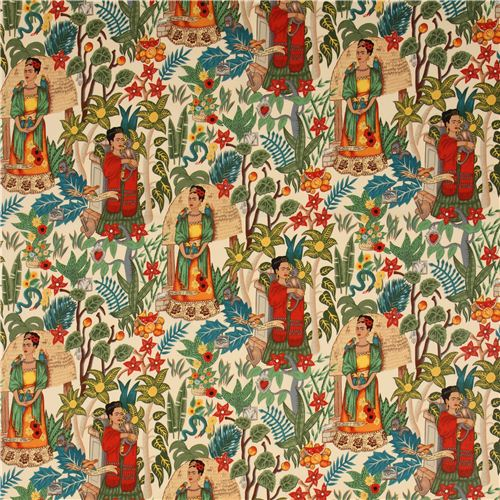 Frida-Kahlo-fabric-Mexico-garden-by-Alexander-Henry