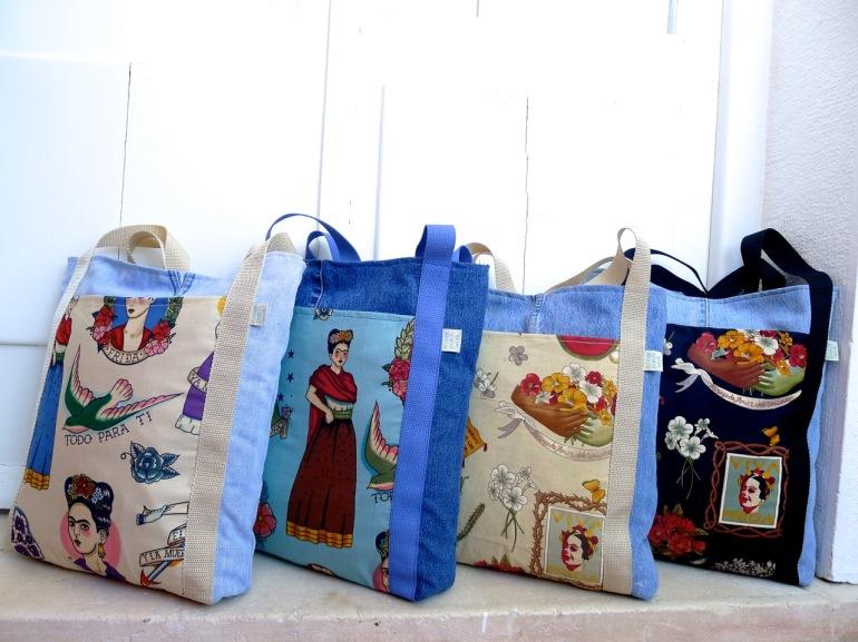 sacos Frida Kahlo ganga reciclada