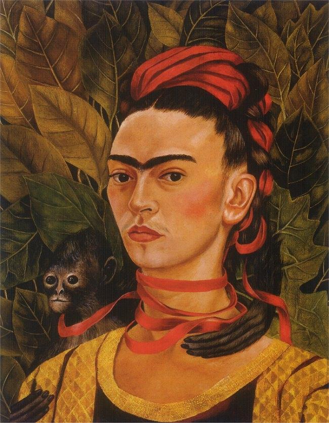 self-portrait-with-monkey-1940