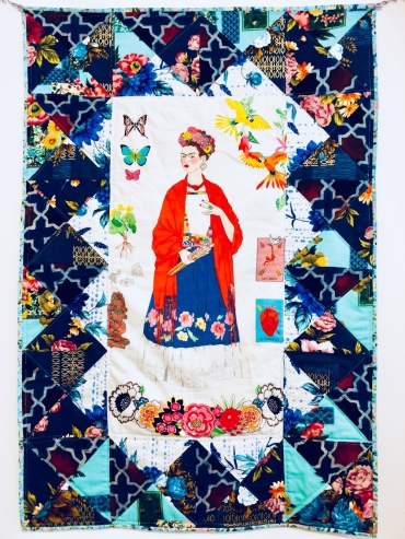 painel Frida azul